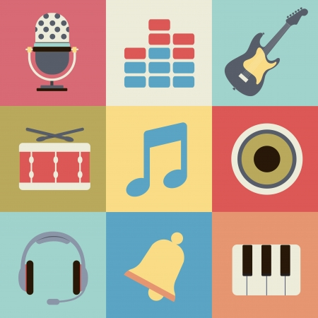 musical note: icon audio
