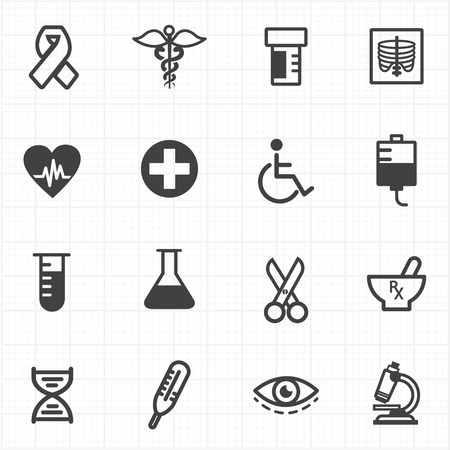 Medicine healthcare icons Vector