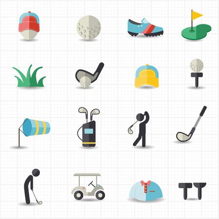 sand trap: Golf sport icons