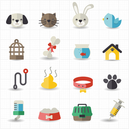 Pet icons  Vectores