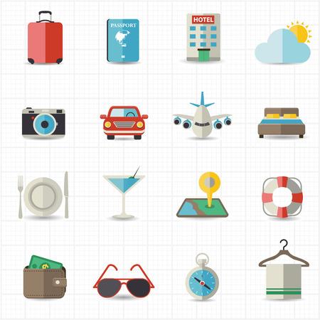 Reis-en verblijfkosten, Vakantie, iconen