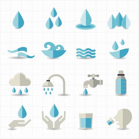 Water gerelateerde pictogrammen
