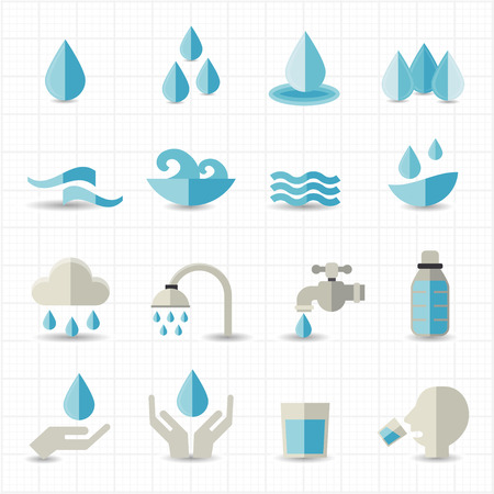 Water related icons  Vector