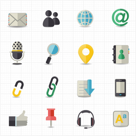 internet symbol: Communication and internet icons