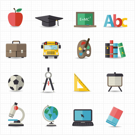 school sport: Education back to school icons