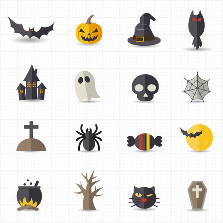 Halloween icons Stock Illustratie