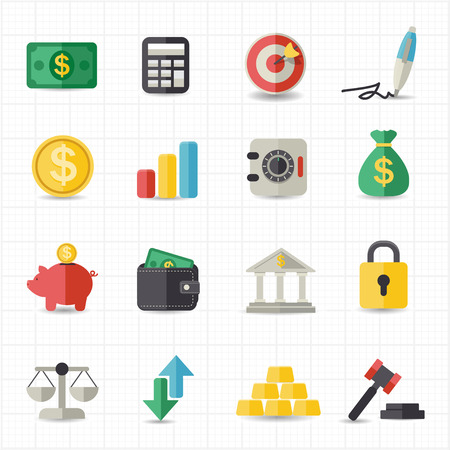 business bag: Business finance money icons