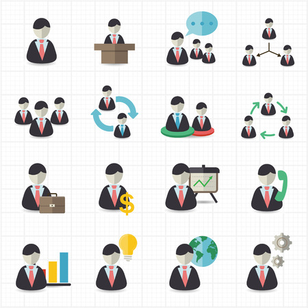 Business man and management icons  Vector
