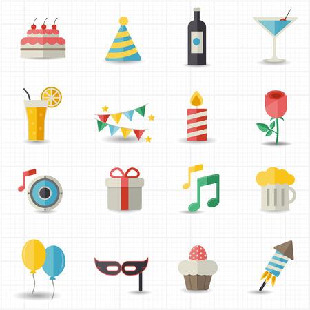 icônes de célébration Vecteurs