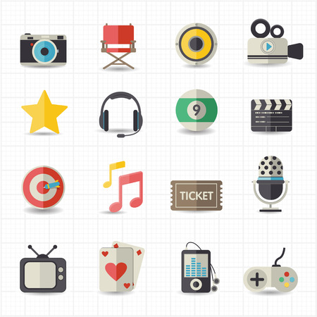 Entertainment movie icons  Vector