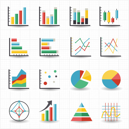 grafica de pastel: Iconos gráficos Gráfico Vectores