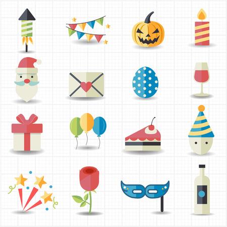 Celebration, Party pictogrammen Stock Illustratie