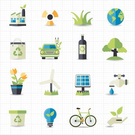 save water: Eco friendly icons