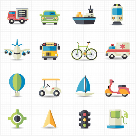 Transport iconen Stock Illustratie