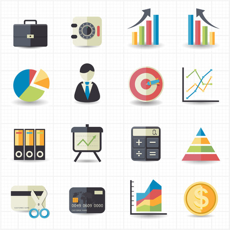 credit report: Business finance money graph chart icons