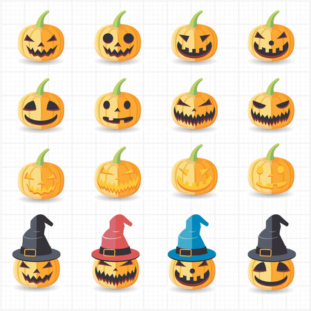 Halloween pumpkin icons