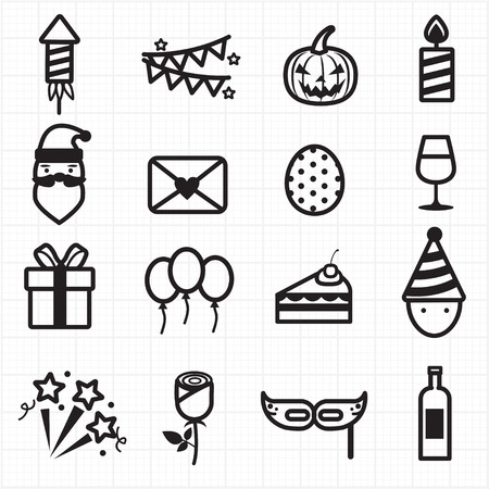 party balloons: Party Celebration icons