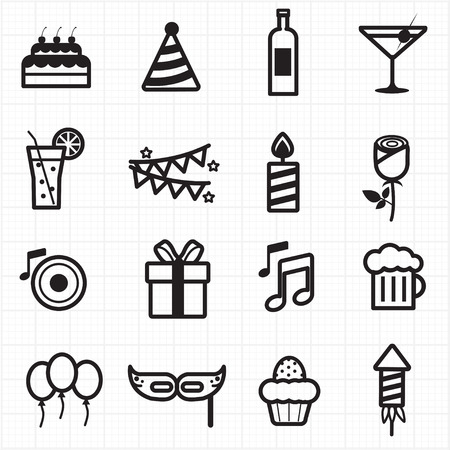 Celebration Party icons  Vector