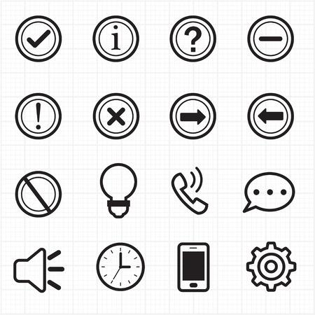 signo de admiracion: Informaci�n y Notificaci�n iconos