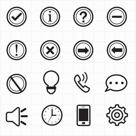 exclamation mark: Information and Notification icons