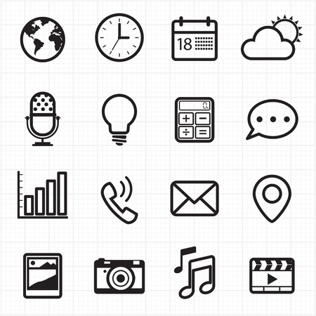 notification: Notification and web icons  Illustration
