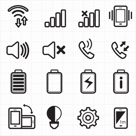 Mobile phone profile icons vector  Vector