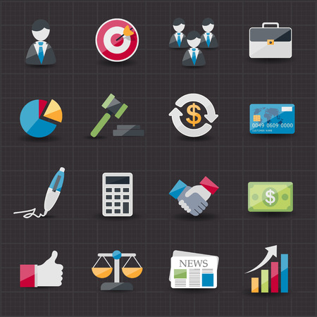 finance report: Business and finance icons set