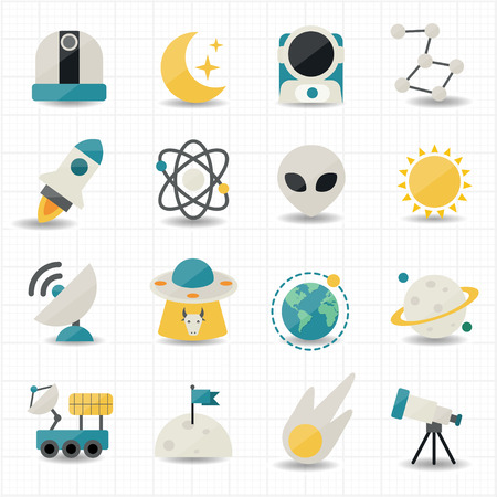 Universe and Space icons  Vector