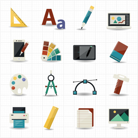 Creativiteit en Design Icons Stock Illustratie