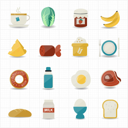 Breakfast and Food Icons
