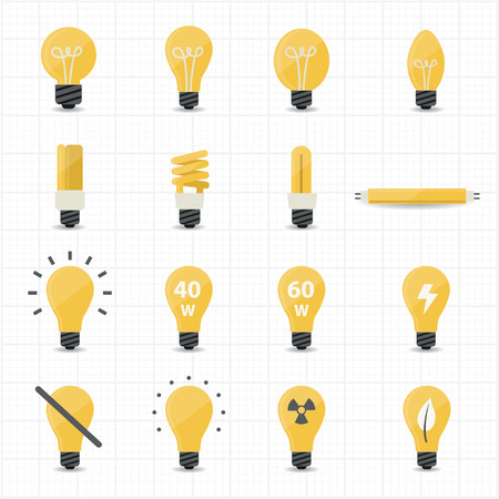 lighting bulb: Llight Bulb Icons  Illustration