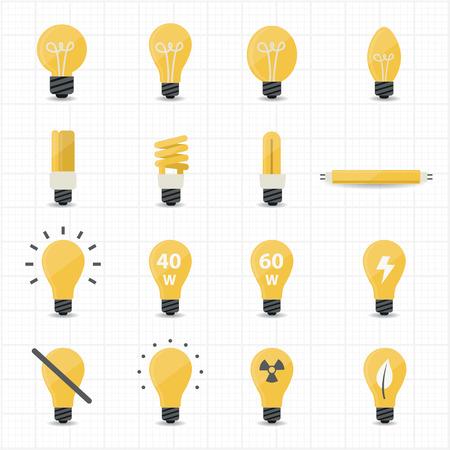 lighting bulb: Llight Bulb Icons  Illustration