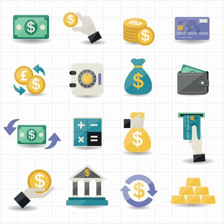 Geld en Financiën Icons