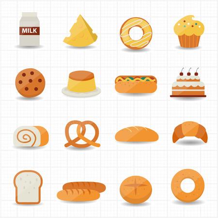 Bakkerij en brood Icoon