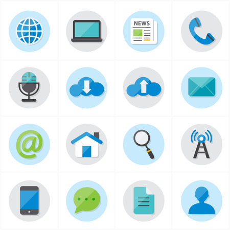 Flat Icons For Web Icons and Internet Icons Vector Illustration Ilustrace