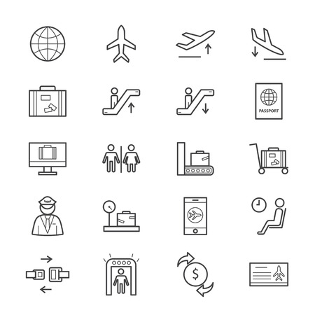 baggage: Airport Icons Line