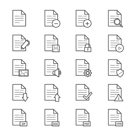 edit icon: Document Icons Line Illustration