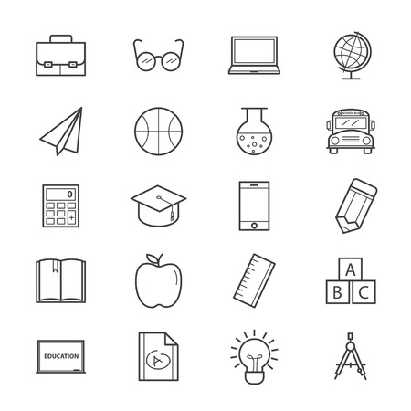 education icons: Education and School Icons Line