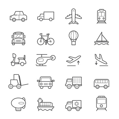 bicycle icon: Transportation Icons Line