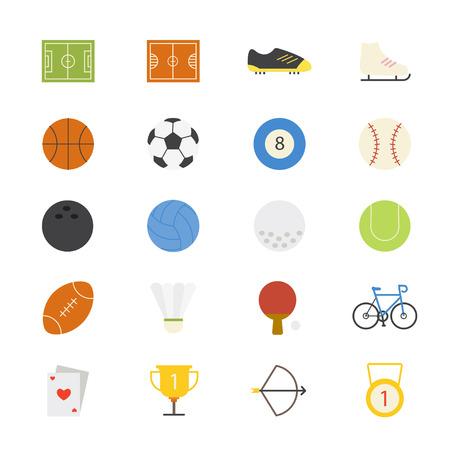 balones deportivos: Deporte de color plana Iconos Vectores