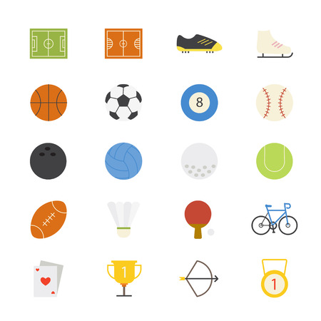 activities: Sport Flat Icons color