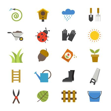 Garden Flat Icons color