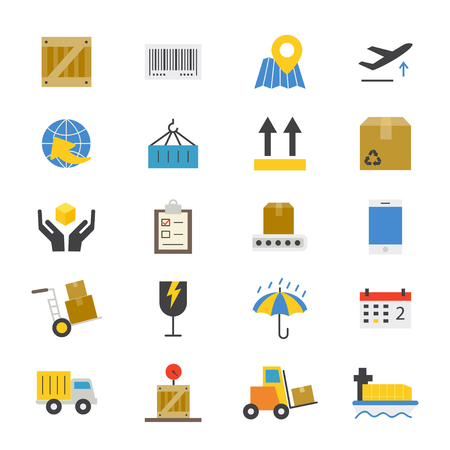 weighted: Logistics Flat Icons color Illustration