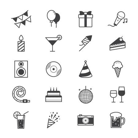 fiesta: Celebración del partido de iconos de líneas