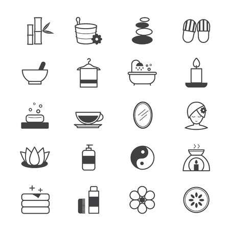 papering: Spa Icons Line