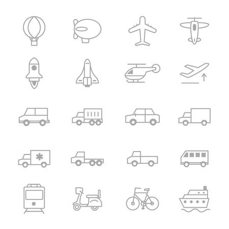 transportation icons: Transportation Icons Line Set Of Illustration