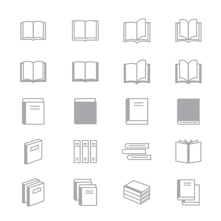 videobook: Book Icons Line Set Of Design Illustration