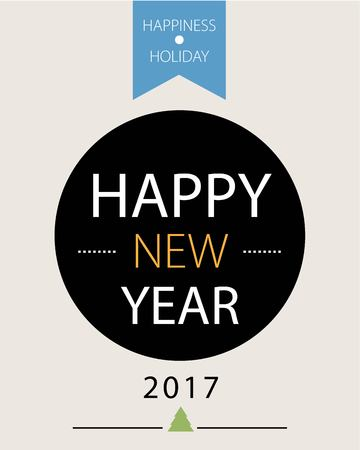 greeting card background: Happy New Year Greeting Card Background Illustration