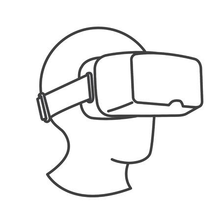 Auricolare virtuale virtuale con vetri VR