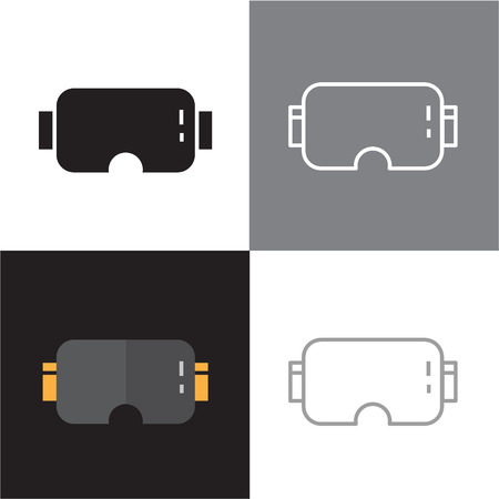 VR Glasses and Virtual Reality icons